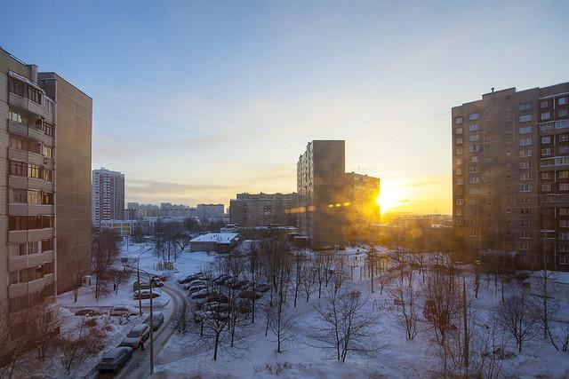 Морозное утро 21 февраля.
