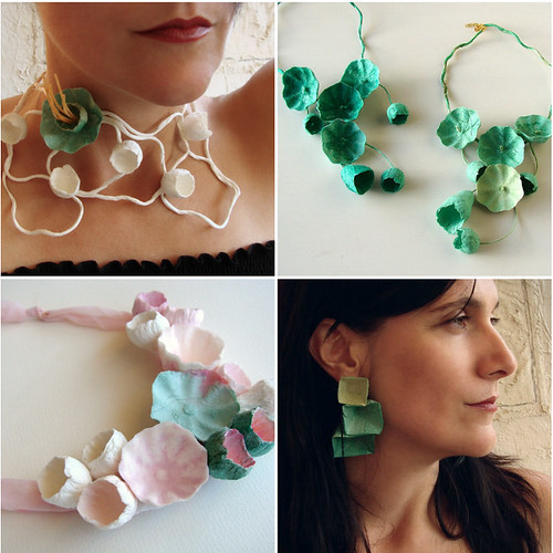 Handmade Paper Jewelry by Alessandre Fabre Repetto