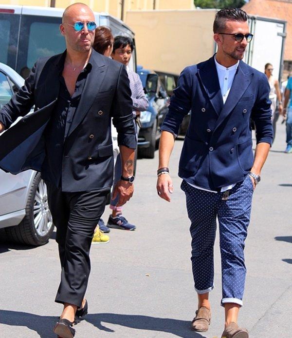 Phong cách thời trang nam Châu Âu của cánh đàn ông trên đường phố