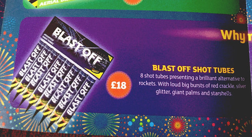 Made For Sainsbury's Supermarket - Blast Off Shot Tubes by Standard Fireworks UK