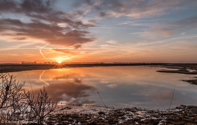 Sunrise at the Slikken van Flakkee.