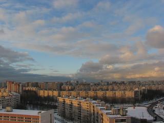 View from the window, Veshnyakovskaya street 2008 Feb 19 / Вид из окна, Вешняковская улиц