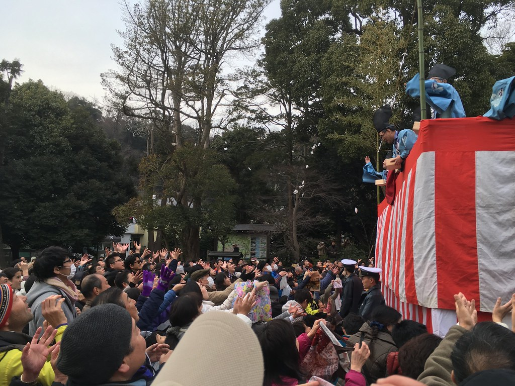 SETSUBUN ceremony, Kamakuragu shrine, Kamakura