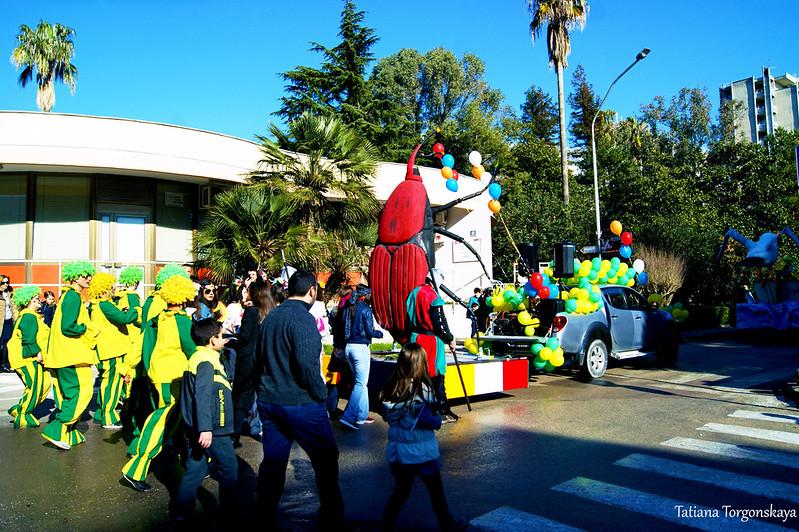 Отправление праздничной колонны из Игало