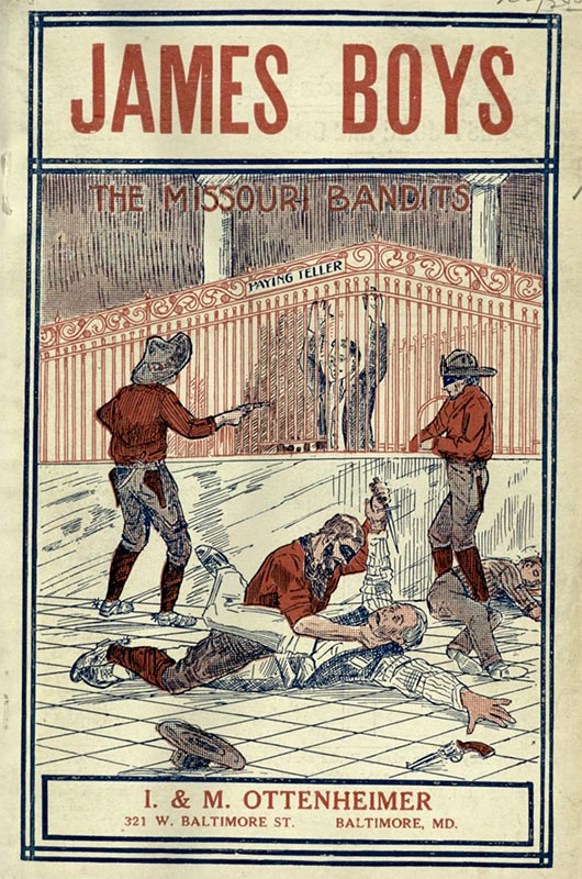 James, Edgar. The Notorious James Brothers: the latest and most complete story of the daring crimes of these famous desperadoes ever published : containing many sensational escapades never before made public. Baltimore: I. & M. Ottenheimer, 1913. Print.