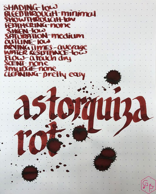 Ink Shot Review @RobertOsterInk Astorquiza Rot 9