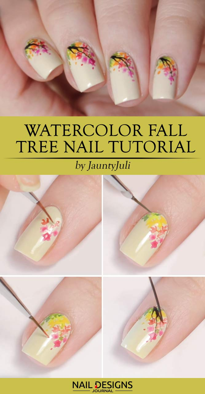 Save - Easy Fall Nail Art With Leaves And Dots - Nails C