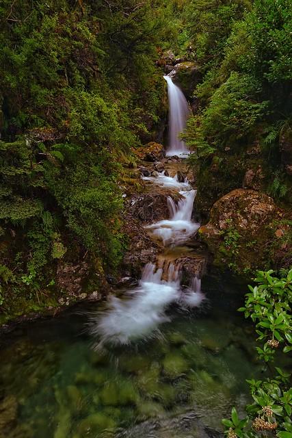 Avalanche Creek waterfall, Sony ILCE-7, Sony FE 28mm F2