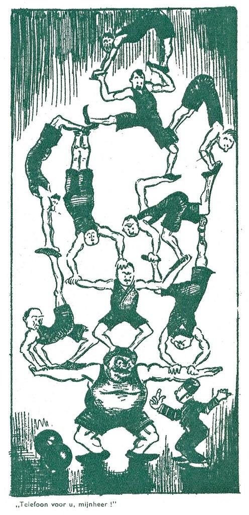 Extra, uitgave Jamin, 1935, ill cartoon telefoon