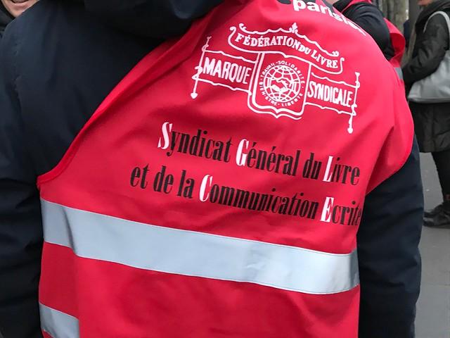 Manifestation des lecteurs correcteurs à Paris