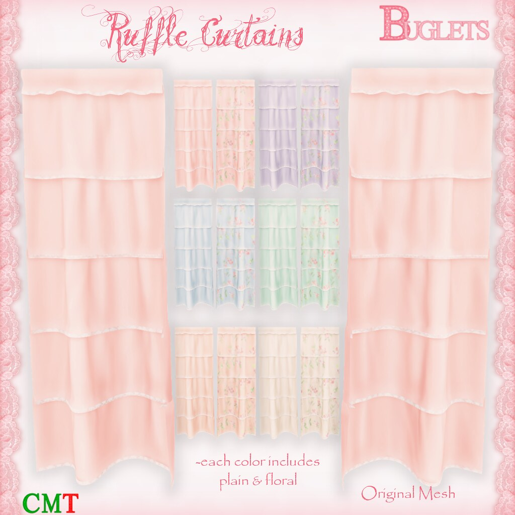 Ruffle Curtains AD - TeleportHub.com Live!