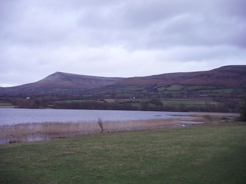 Mynydd Troed and Llangorse Lake from Llangasty-Talyllyn