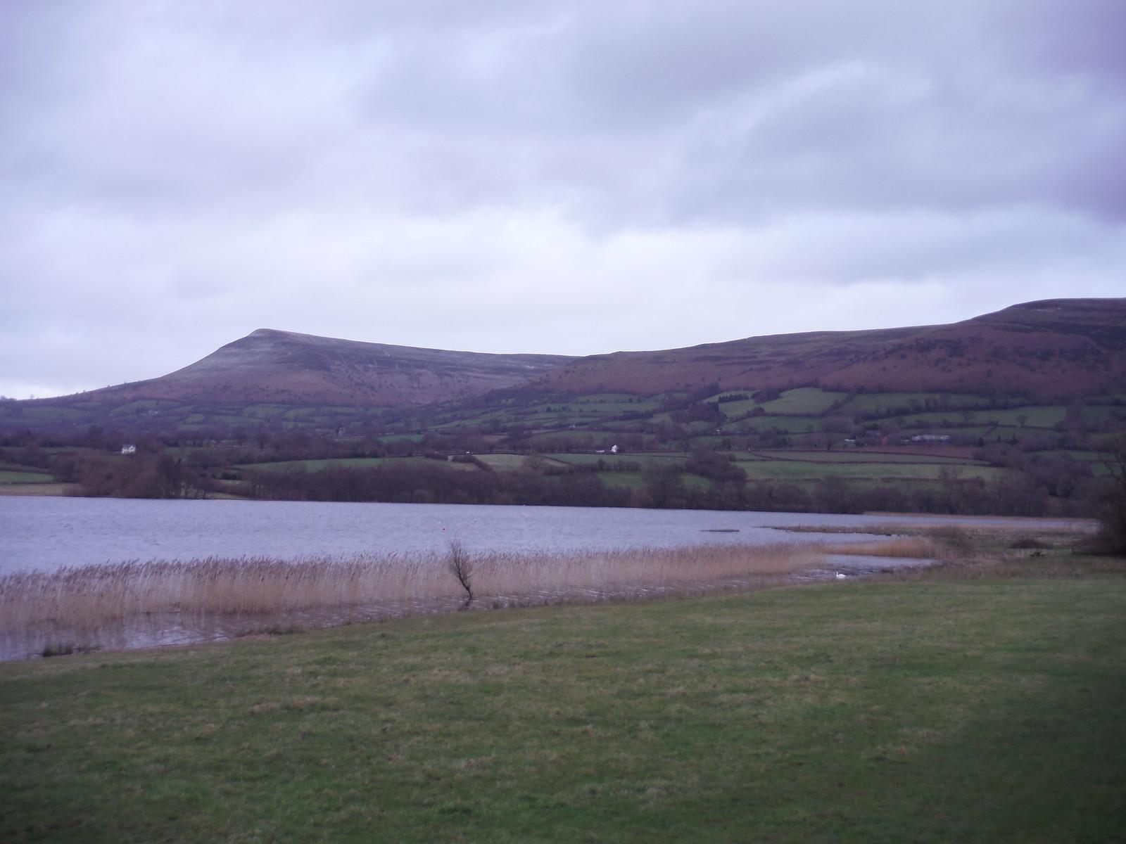 Mynydd Troed and Llangorse Lake from Llangasty-Talyllyn SWC Walk 308 - Bwlch Circular (via Mynydd Troed and Llangorse Lake)