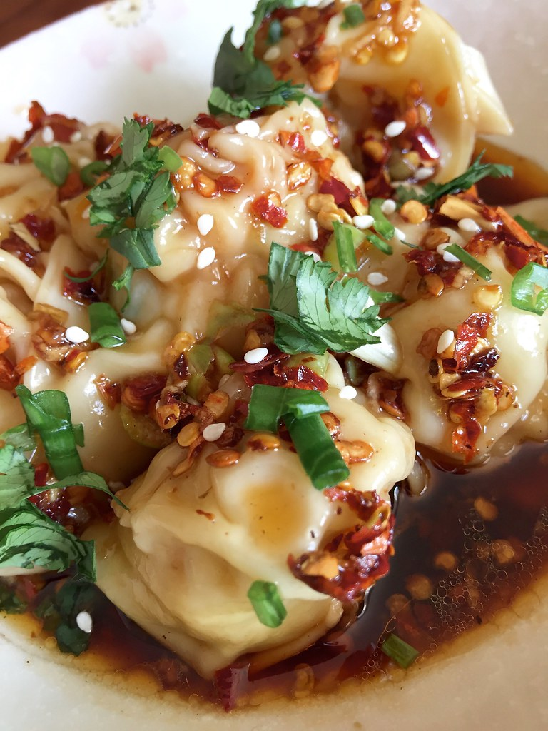Sichuan Wontons with Chili Oil Sauce