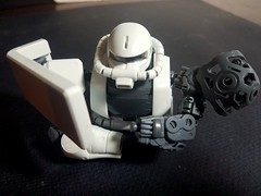 MS-06J ZAKU II, WHITE OGRE, MASTER GRADE, DRY FIT TEST