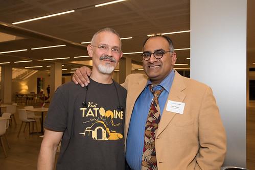 Ian Gooding '89 and Ravi Rajan