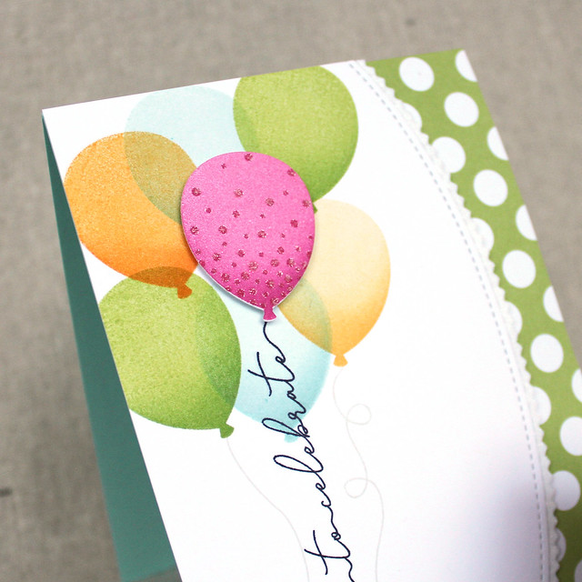 Time To Celebrate Balloons Card 3