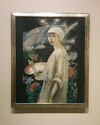 """Self-Portrait with Paradise Birds"", 1910 #toronto #artgalleryofontario #florinestettheimer #stettheimerago"