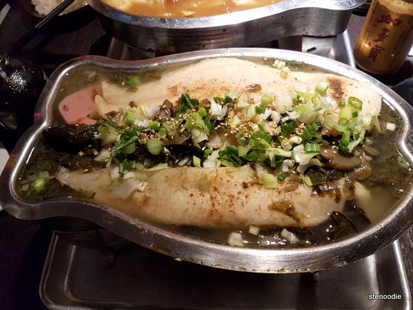 Basa Fillets in Pickled Cabbage