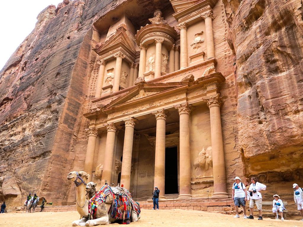 Fachada de El Tesoro de Petra
