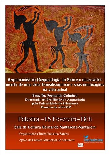 CARTAZ Palestra Arqueoacústica_16-02-2018 - Sala de Leitura B. Santareno