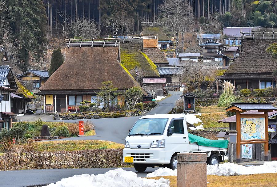 日本京都 美山 茅草屋 交通 巴士32