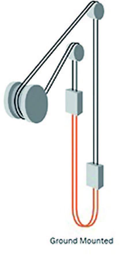 схема положения канатов подъемной машине