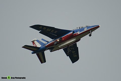 E135 F-TERX 2 - E135 - Patrouille de France - French Air Force - Dassault-Dornier Alpha Jet A - RIAT 2008 Fairford - 070711 - Steven Gray - IMG_7118