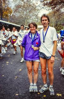 Gisela und Karlheinz im Ziel