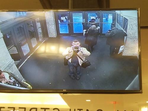 Security camera selfie #newyorkcity #newyork #securitycamera #macys #me #selfie