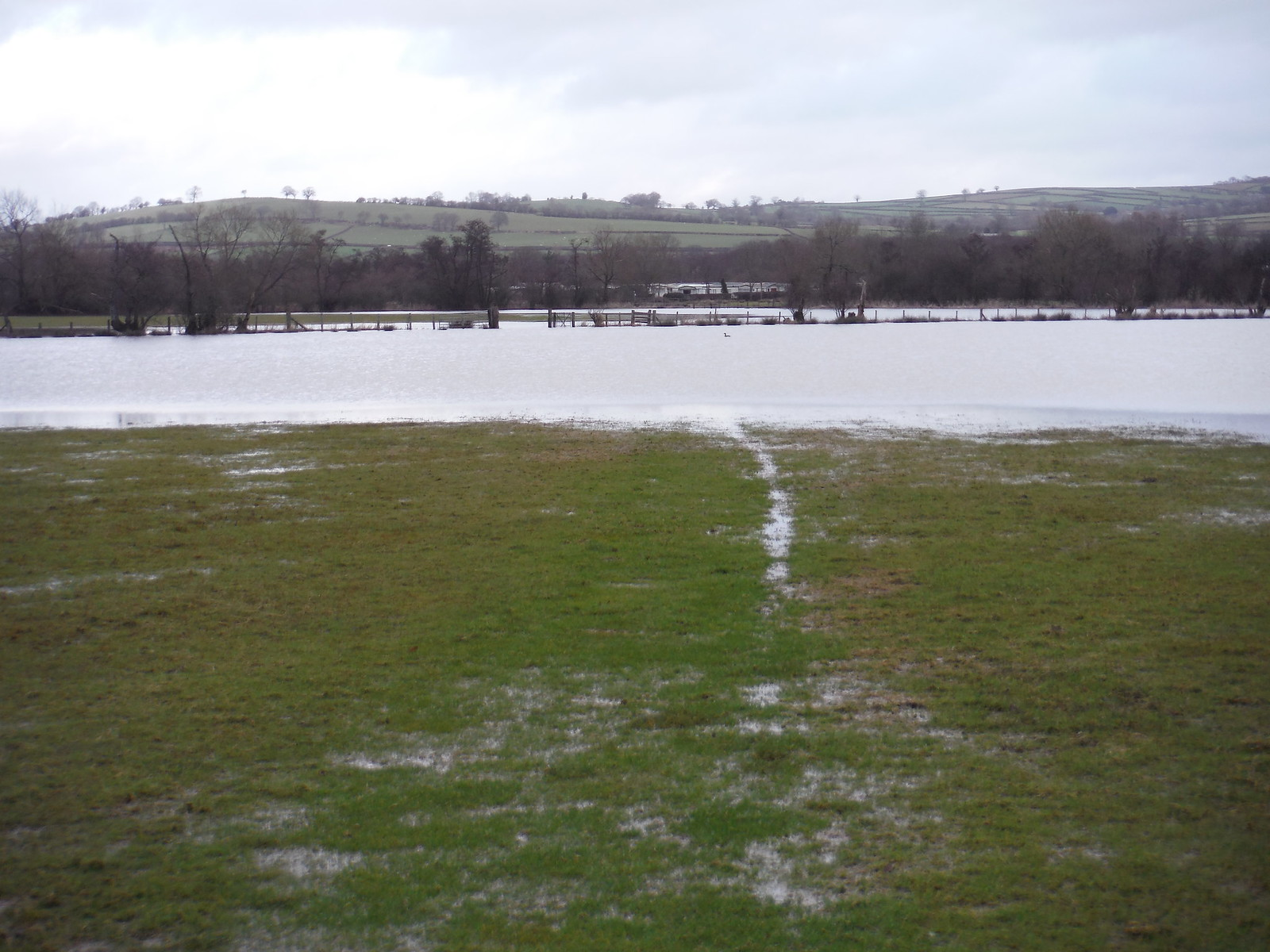 That's why there is a flood diversion on the route map! SWC Walk 308 - Bwlch Circular (via Mynydd Troed and Llangorse Lake)