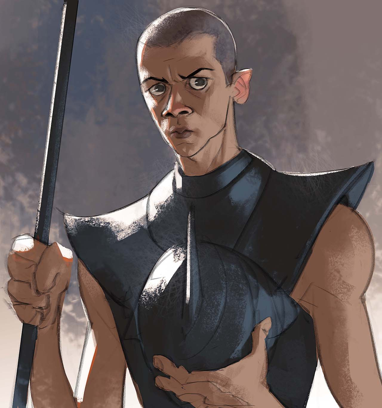 Artist Creates Unique Character Arts From Game Of Thrones – Gray Worm Character Art By Ramón Nuñez