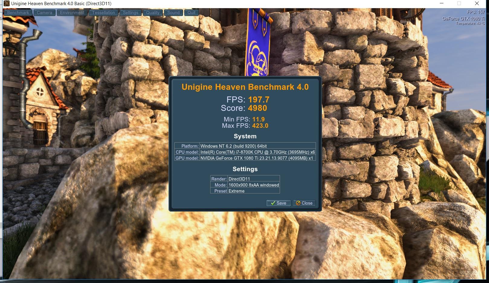 GTX 1080ti Heaven Bench - EVGA Forums