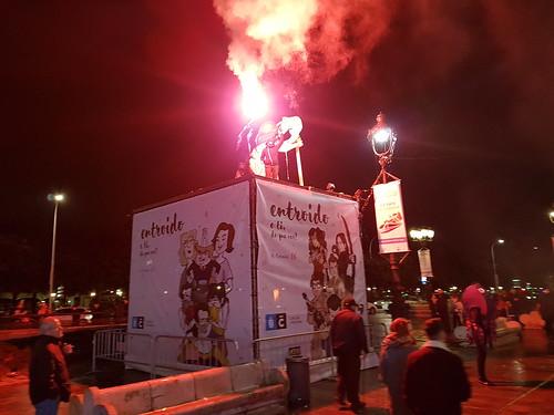 Manifestación en defensa del CSO A Insumisa: Obelisco