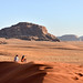 1. En las dunas de Wadi Rum esperando al atardecer