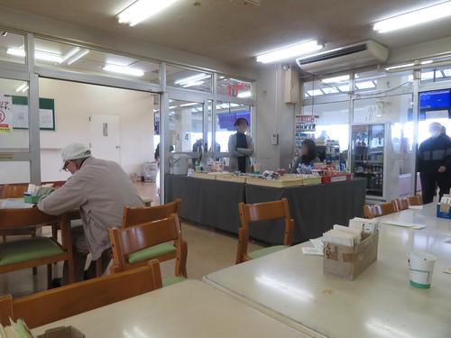 金沢競馬場の2階休憩室の特設売店