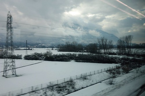 On the train from Salerno to Rome, Italy