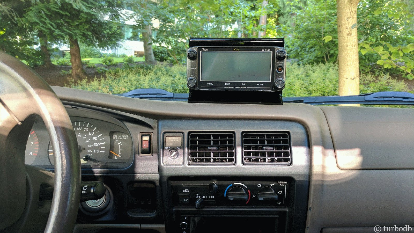 Icom 5100A Install (OMG, did I just drill a hole in the roof of my truck?)