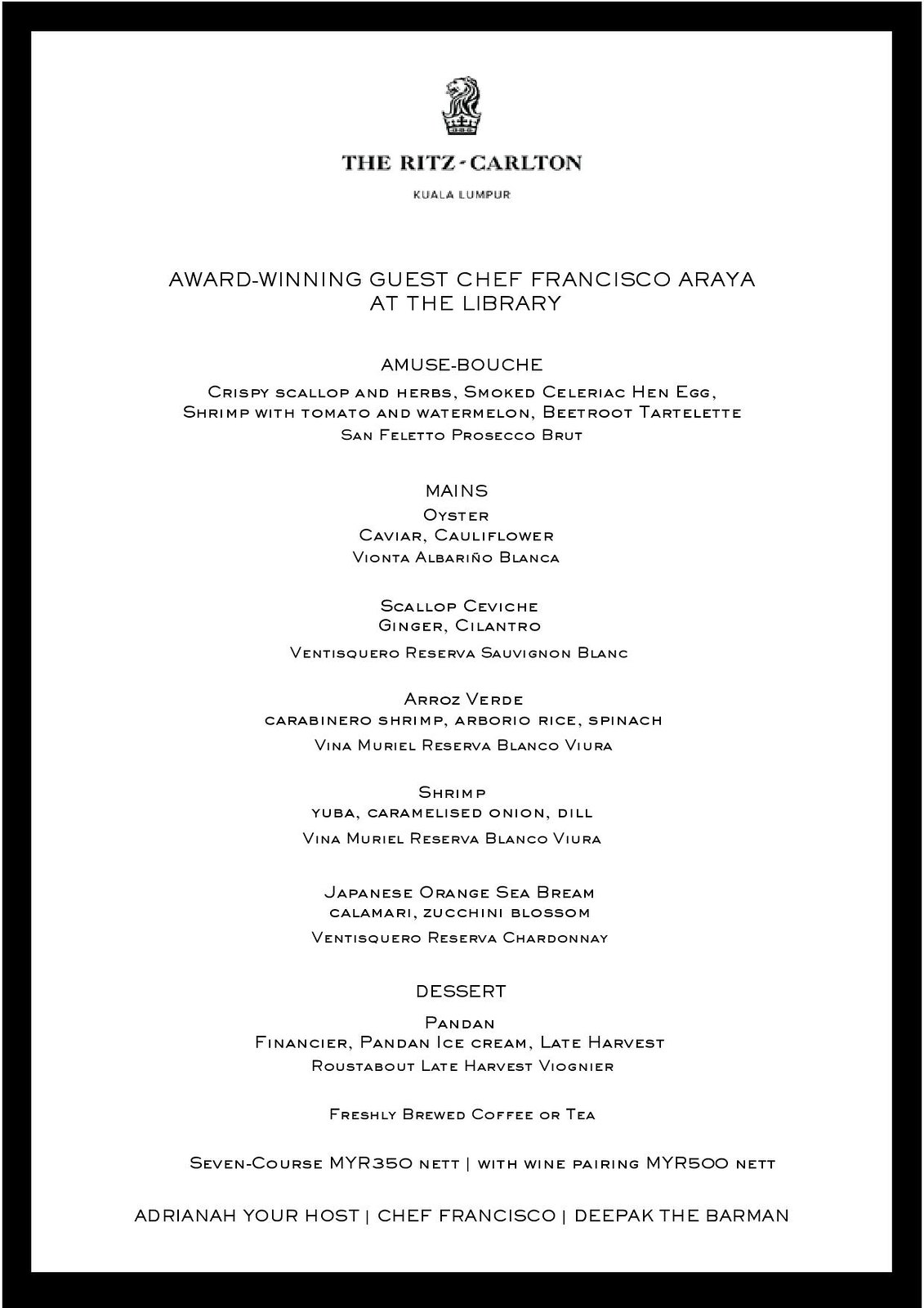 Menu - Guest Chef Francisco Araya at The Library-page-001