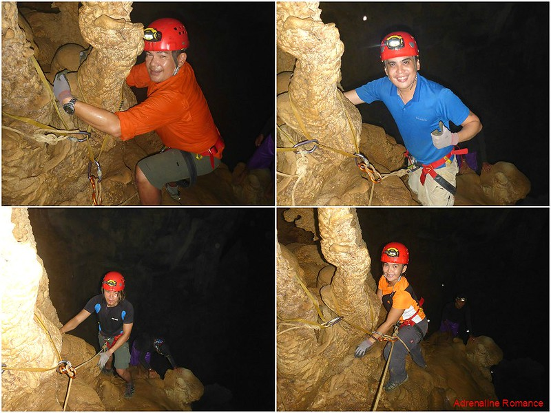 Descending a 100-foot cliff in the dark