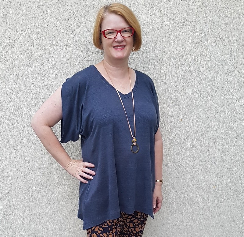 Style Arc Tilda tunic in linen knit from Rathdowne Fabrics