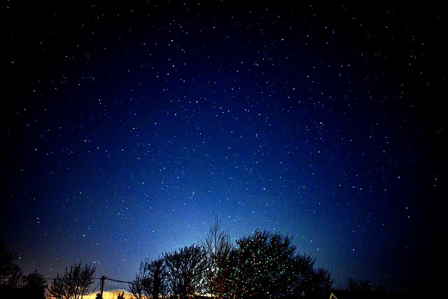 Christmas night long exposure in Ireland.