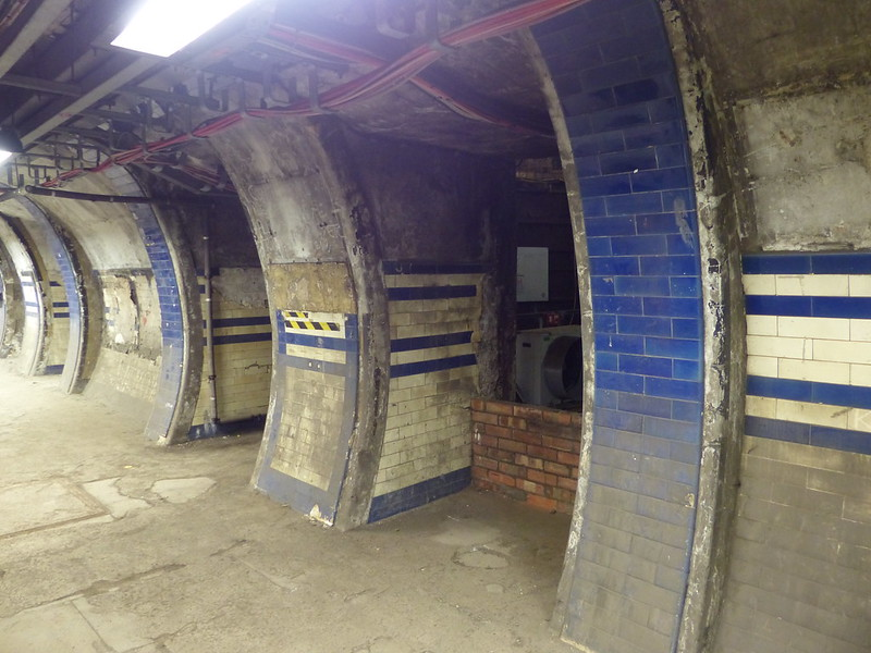 This is a picture of abandoned underground tunnels on the Euston - The Lost Tunnels tour