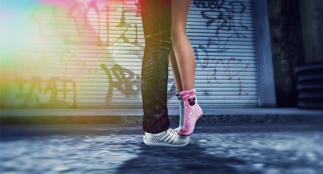 I'm Standing on your Toes every Morning to kiss you...