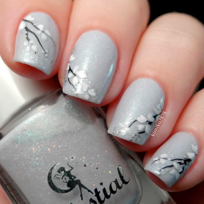 Simple Designs With Different Grey Nails Fashionre