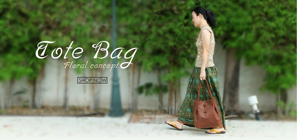 Floral Concept Tote bag คือ กระเป๋าถือหนังแท้ สำหรับผู้หญิง