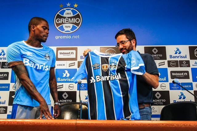 Apresentação Maicosuel no Grêmio