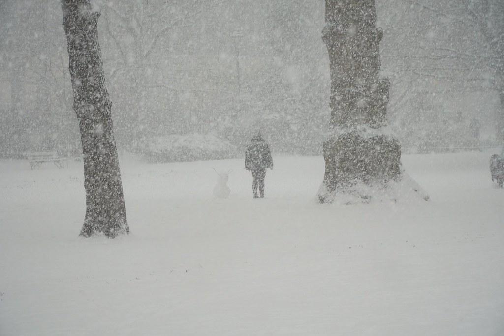 Lumituisku Lontoossa