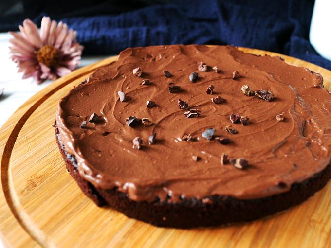 全素無粉藜麥巧克力蛋糕 Vegan Flourless Quinoa Chocolate Cake (5)