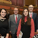 Rep. Arthur O'Neill and State Senator Eric Berthel posed for a photo with Pomperaug High School freshmen Natalie LaBonia and her twin sister Isabella LaBonia on the floor of the House of Representatives during the opening day of the 2018 legislative session.
